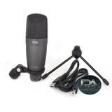 Microfono Condenser Novik Fnk 02u Usb Para Estudio