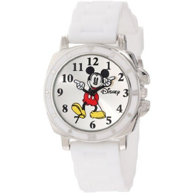 Disney Kids Mk1103 Mickey Mouse Watch With White Rubber Ba