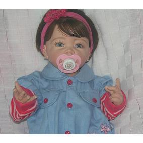 Boneca Bebe Reborn Laurinha Toda De Vinil Com Silicone