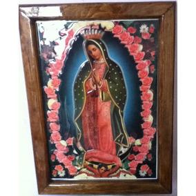 Cuadro Virgen De Guadalupe Con Rosas 3d Relieve 12 Dic