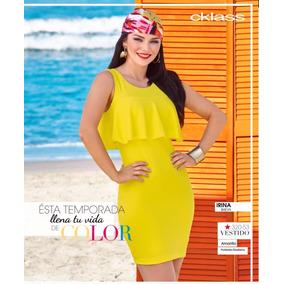 Vestido Cklass Amarillo Temporada Primavera Verano 2017