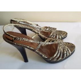 08cef3bd7c8 Zapatos Sandalias Chalas Cuero Nº 37 Noche Fiesta