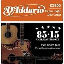 Cuerdas Guitarra Electro Acustica D Addario 010 Hasta 014