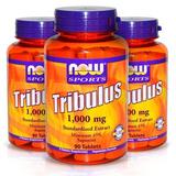 3 Tribulus 1000mg, 45% Saponina Now Sports 270 Tabletes
