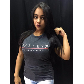 Camisa Feminina Camiseta Oakley Manga Curta Lançamento Blusa