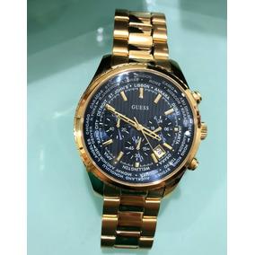 4abc645b0f90f Relogio Guess Masculino Prata Com Dourado - Relógios no Mercado ...