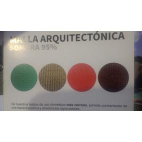 Rollo Malla Sombra Arquitectonica 95% 2x100