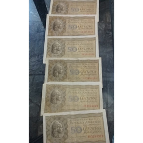 Billetes 50 Centavos. Moneda Nacional