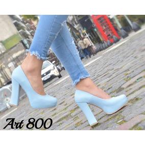 Zapatos Mujer Plataforma Taco Palo Colores Art 800