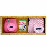 Kit Instax Mini 9 + Carga 10 Exp + Estuche/f Pink Lunares