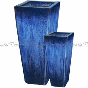 Vaso Vietnamita Em Cerâmica Design Belissimo 02 Unid