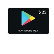 Tarjeta Gift Card Google Play 25 Store Usa