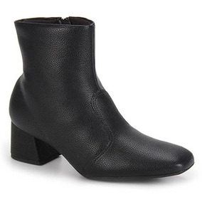 Ankle Boots Conforto Feminina Piccadilly - Preto