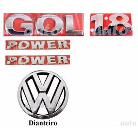 Emblemas Gol 1.8 + Laterais Power + Vw Grade - G4 Geração 4