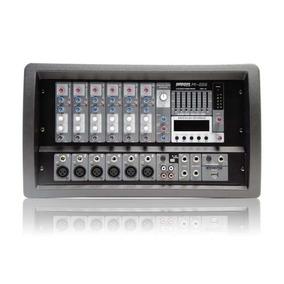 Mixer Americanpro Potenciado De 6 Canales M-256 Usb Mp3