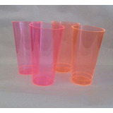 Vasos Plásticos Acrílicos Desechables Colores Neón
