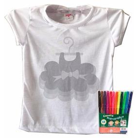 Camiseta Dia Das Crianças Para Colorir Vestido Infantil