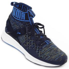Zapatillas De Running Puma Ignite Evoknit Hombre Azul