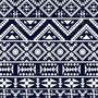 Papel Parede Auto Adesivo Etnico Azul Royal Branco