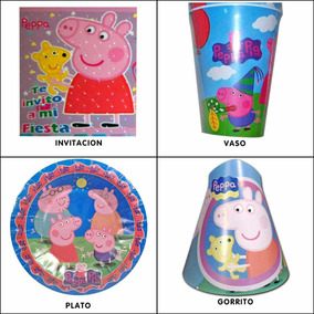 Artículos De Fiesta De Peppa Pig Platos Vasos Globos