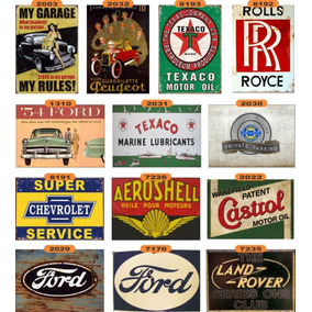 Placas Propagandas Antigas Carro Posto Gasolina Fusca
