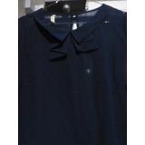 Blusa De Chifon - Semitransparente Color Azul