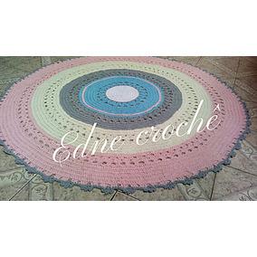 Tapete Redondo Infantil/ Croche/decore Sua Sala Ou Quarto
