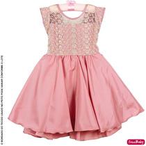 Vestido Infantil Daminha Luxo Princesa Realeza Formatura