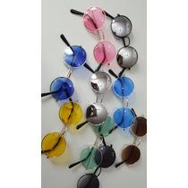 Kit Com 10 Oculos De Sol Infantil Raiban Round Atacado Moda