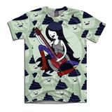 Camiseta Unissex Hora De Aventura Marceline Guitarra Cupcake