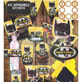 Kit Imprimible Batman Bebe Fiesta Niño Etiqueta Candy Dulce