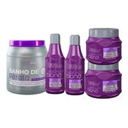 2 Kits Matizador Platinum Blond E 1 Banho De Pérola 1kg