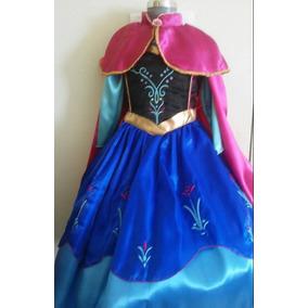 Vestido Disfraz Ana Frozen Tallas 4-6-8