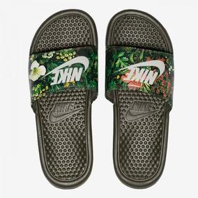 Chinelo Nike Slide Benassi Jdi Print Feminino Musgo/bco
