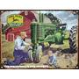 Cartel Chapa Publicidad Antigua Tractor John Deere M201