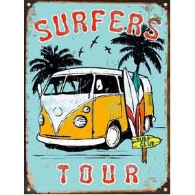 Cartel Chapa Publicidad Antigua Vintage Surf Combi P133