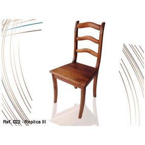 Móvel Em Madeira Maciça - Cadeira Colonial Réplica 3 Ref 022