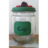 Pote Recipiente Para Mantimentos Café Detalhes Em Biscuit