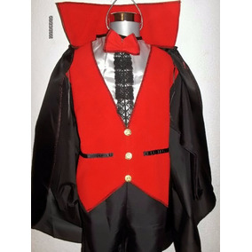Disfraz Vampiro Conde Dracula Para Niño Capa Collar Hallowen