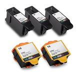 Nuinko 5 Pack Compatible Kodak 10 Cartuchos De Tinta Negro