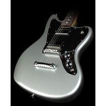 Fender Guit. Elec. Jaguar Blacktop Mexico, Rwn, Hh, Black