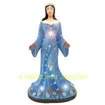 Estatua Mãe Iemanja Rainha Mar Iluminada Imagem Gesso 60cm