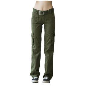 Pantalon Mujer Cargo Hard Work Gabardina Reforzada Premium