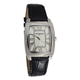 Nivada Np7010macbr Reloj Análogo Para Hombre Color Plata Y N