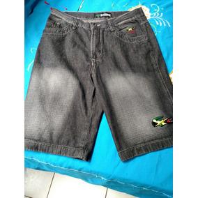 Bermuda Jeans Lascote Short Original Cinza Escuro Personaliz