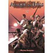Mangá Ataque Dos Titãs Volume 32 Lançamento Novo Lacrado