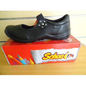 Zapato Colegial Negro Sifrinas Tallas 39 Al 40 Modelo 215