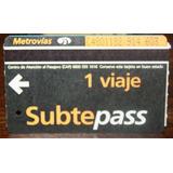 Boletos Metro Buenos Aires 1 Viaje