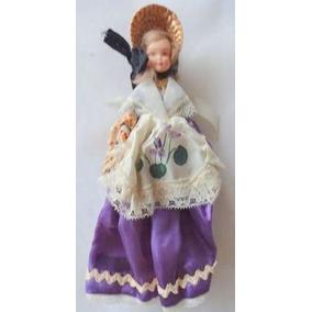 Antigua Muñeca Souvenir Vestimenta Tipica Provenza 20 Cm