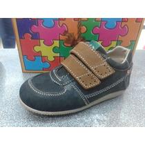 Zapatos Valleverde Casuales Cierre Magico 100% Cuero De Niño